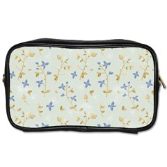 Vintage Hand Drawn Floral Background Toiletries Bags by TastefulDesigns