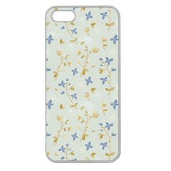 Vintage Hand Drawn Floral Background Apple Seamless Iphone 5 Case (clear) by TastefulDesigns
