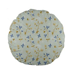 Vintage Hand Drawn Floral Background Standard 15  Premium Round Cushions by TastefulDesigns