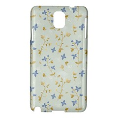 Vintage Hand Drawn Floral Background Samsung Galaxy Note 3 N9005 Hardshell Case by TastefulDesigns
