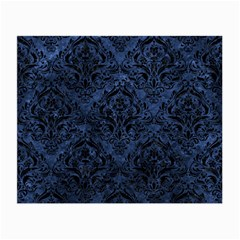 Damask1 Black Marble & Blue Stone (r) Small Glasses Cloth by trendistuff