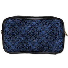 Damask1 Black Marble & Blue Stone (r) Toiletries Bag (two Sides) by trendistuff