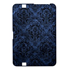 Damask1 Black Marble & Blue Stone (r) Kindle Fire Hd 8 9  Hardshell Case by trendistuff