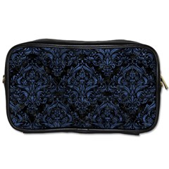 Damask1 Black Marble & Blue Stone Toiletries Bag (one Side)