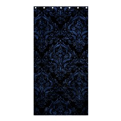 Damask1 Black Marble & Blue Stone Shower Curtain 36  X 72  (stall) by trendistuff
