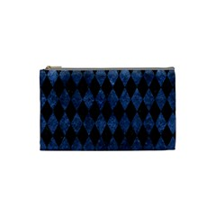 Diamond1 Black Marble & Blue Stone Cosmetic Bag (small) by trendistuff