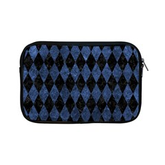 Diamond1 Black Marble & Blue Stone Apple Ipad Mini Zipper Case by trendistuff