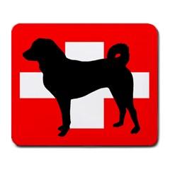 Appenzeller Sennenhund Silo Switzerland Flag Large Mousepads by TailWags
