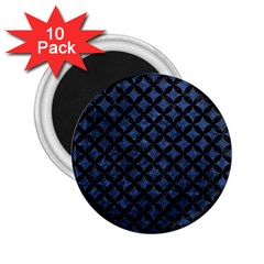 Circles3 Black Marble & Blue Stone (r) 2 25  Magnet (10 Pack) by trendistuff