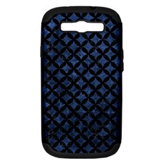 Circles3 Black Marble & Blue Stone (r) Samsung Galaxy S Iii Hardshell Case (pc+silicone) by trendistuff