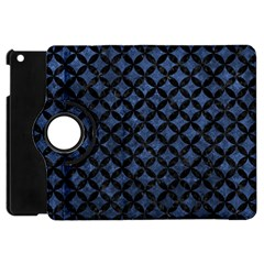 Circles3 Black Marble & Blue Stone (r) Apple Ipad Mini Flip 360 Case by trendistuff