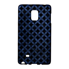 Circles3 Black Marble & Blue Stone Samsung Galaxy Note Edge Hardshell Case by trendistuff