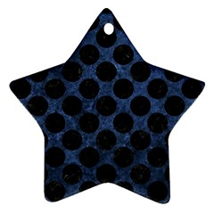 Circles2 Black Marble & Blue Stone (r) Star Ornament (two Sides) by trendistuff