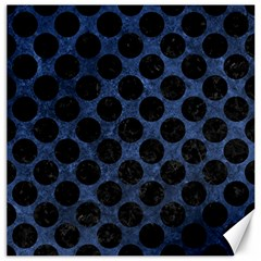 Circles2 Black Marble & Blue Stone (r) Canvas 20  X 20  by trendistuff