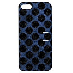 Circles2 Black Marble & Blue Stone (r) Apple Iphone 5 Hardshell Case With Stand by trendistuff
