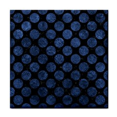 Circles2 Black Marble & Blue Stone Tile Coaster by trendistuff