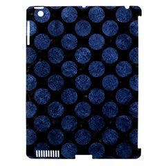 Circles2 Black Marble & Blue Stone Apple Ipad 3/4 Hardshell Case (compatible With Smart Cover) by trendistuff