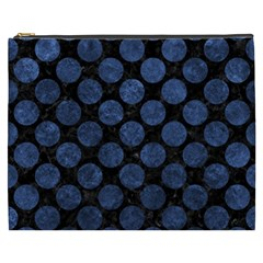 Circles2 Black Marble & Blue Stone Cosmetic Bag (xxxl) by trendistuff