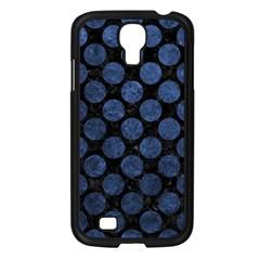 Circles2 Black Marble & Blue Stone Samsung Galaxy S4 I9500/ I9505 Case (black) by trendistuff