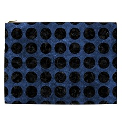 Circles1 Black Marble & Blue Stone (r) Cosmetic Bag (xxl) by trendistuff