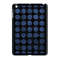 Circles1 Black Marble & Blue Stone Apple Ipad Mini Case (black) by trendistuff