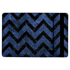 Chevron9 Black Marble & Blue Stone (r) Apple Ipad Air Flip Case by trendistuff
