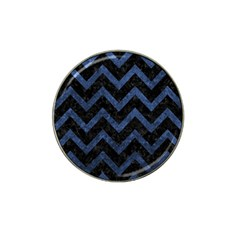 Chevron9 Black Marble & Blue Stone Hat Clip Ball Marker (10 Pack) by trendistuff