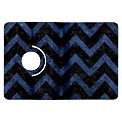 Chevron9 Black Marble & Blue Stone Kindle Fire Hdx Flip 360 Case by trendistuff