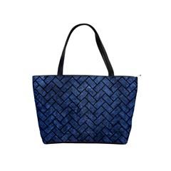 Brick2 Black Marble & Blue Stone (r) Classic Shoulder Handbag by trendistuff