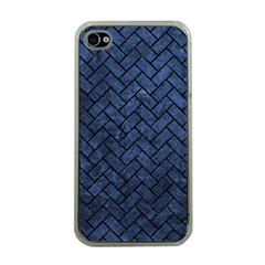 Brick2 Black Marble & Blue Stone (r) Apple Iphone 4 Case (clear)
