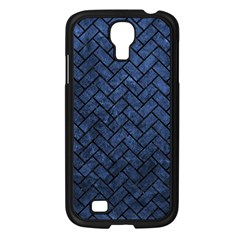 Brick2 Black Marble & Blue Stone (r) Samsung Galaxy S4 I9500/ I9505 Case (black) by trendistuff