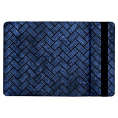 Brick2 Black Marble & Blue Stone (r) Apple Ipad Air Flip Case by trendistuff