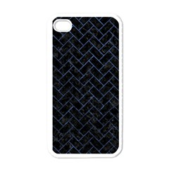 Brick2 Black Marble & Blue Stone Apple Iphone 4 Case (white)