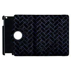 Brick2 Black Marble & Blue Stone Apple Ipad 3/4 Flip 360 Case by trendistuff