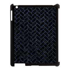 Brick2 Black Marble & Blue Stone Apple Ipad 3/4 Case (black) by trendistuff