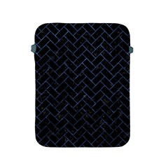 Brick2 Black Marble & Blue Stone Apple Ipad 2/3/4 Protective Soft Case by trendistuff
