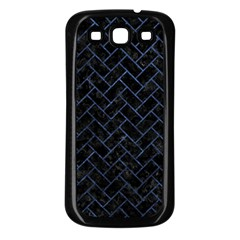 Brick2 Black Marble & Blue Stone Samsung Galaxy S3 Back Case (black) by trendistuff