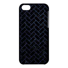 Brick2 Black Marble & Blue Stone Apple Iphone 5c Hardshell Case by trendistuff