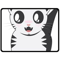 Meow Fleece Blanket (large)  by evpoe