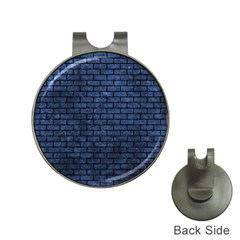 Brick1 Black Marble & Blue Stone (r) Golf Ball Marker Hat Clip by trendistuff