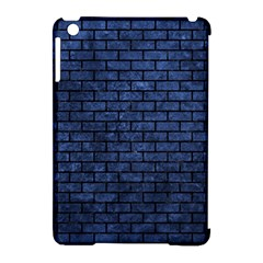 Brick1 Black Marble & Blue Stone (r) Apple Ipad Mini Hardshell Case (compatible With Smart Cover) by trendistuff