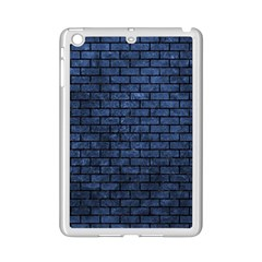 Brick1 Black Marble & Blue Stone (r) Apple Ipad Mini 2 Case (white) by trendistuff