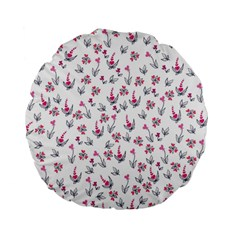 Heart Ornaments And Flowers Background In Vintage Style Standard 15  Premium Flano Round Cushions by TastefulDesigns