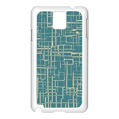 Hand Drawn Lines Background In Vintage Style Samsung Galaxy Note 3 N9005 Case (white) by TastefulDesigns