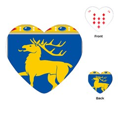 Coat Of Arms Of Aland Playing Cards (heart)  by abbeyz71