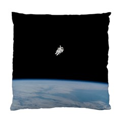 Amazing Stunning Astronaut Amazed Standard Cushion Case (two Sides) by Simbadda