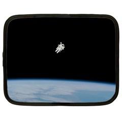 Amazing Stunning Astronaut Amazed Netbook Case (xl)  by Simbadda