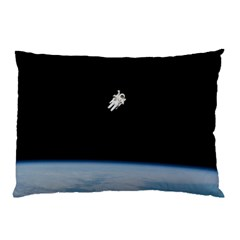 Amazing Stunning Astronaut Amazed Pillow Case (two Sides) by Simbadda