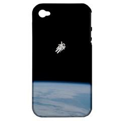 Amazing Stunning Astronaut Amazed Apple Iphone 4/4s Hardshell Case (pc+silicone) by Simbadda