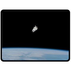 Amazing Stunning Astronaut Amazed Double Sided Fleece Blanket (large)  by Simbadda